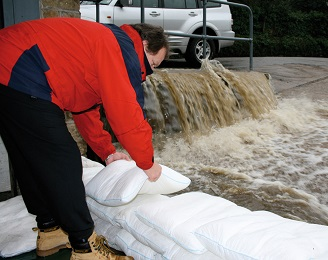 FloodSax alternative sandbags can hold back a torrent of floodwater