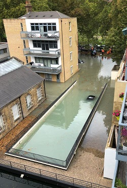Hackney flood photo by Max Scott-Slade