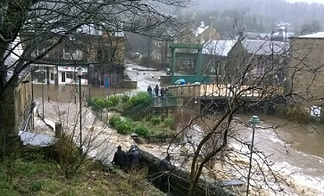 Flooding in Todmorden on Boxing Day 2015 courtesy of Calderdale Council