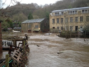 Flooding in Hebden Bridge courtesy of Slowtheflow Calderdale