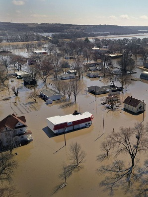 Severe flooding in Hamburg, Nebraska