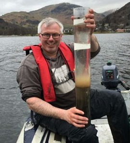 Prof Richard Chiverrell took sediment samples from Bassenthwaite Lake in Cumbria after the 2009 and 2015 floods