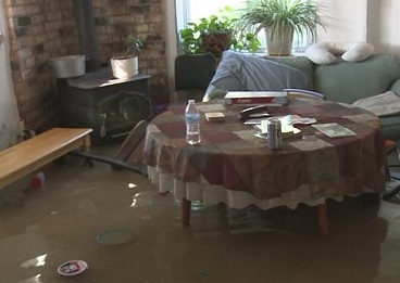 The misery of a flooded home
