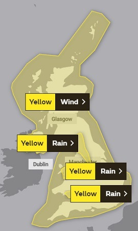 It's very rare you see a Met Office weather warning like this for the whole of the UK