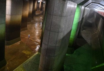 The amazing underground caverns designed to stop Tokyo from flooding
