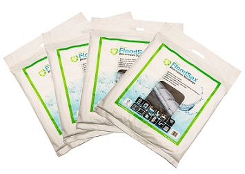 Packs of 5 FloodSax which are so easy to store in your home or business